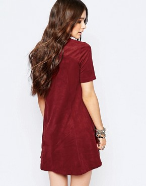 photo T-Shirt Swing Dress by Pimkie, color Red - Image 2