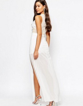 photo Embellished Top Maxi Dress by Missguided Premium, color Cream - Image 2