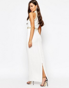 photo Pearl trim Maxi Dress by Missguided Premium, color Cream - Image 2