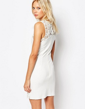 photo Crochet Sleeveless Dress in White by Sisley, color Off White - Image 2