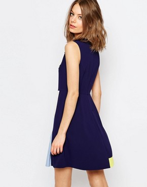 photo Embellished A-Line Dress in Navy by Sportmax Code, color Navy - Image 2