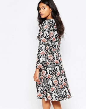 photo Floral Print Midi Dress by Love, color Multi - Image 2