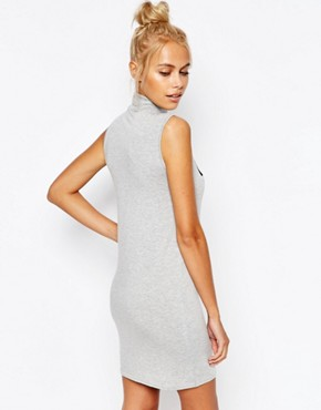 photo Good Girl Sleeveless Tank Dress by Adolescent Clothing, color Light Grey Marl - Image 2