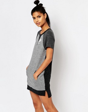 photo T-Shirt Dress with Colour Block by Nike, color Grey - Image 1