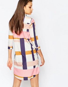 photo Oversized Graphic Printed Shirt Dress by Alter Tall, color Multi - Image 2