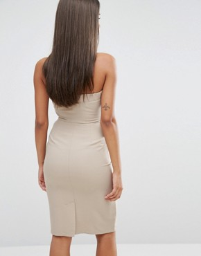 photo Bandeu Frill Pencil Dress by Love, color Taupe - Image 2
