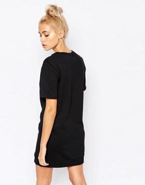 photo T-Shirt Sweat Dress with Handle It Print by Adolescent Clothing, color Black - Image 2