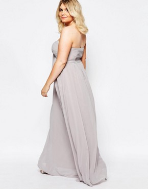 photo Bandeau Maxi Dress by Truly You, color Grey - Image 2