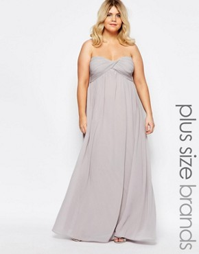 photo Bandeau Maxi Dress by Truly You, color Grey - Image 1