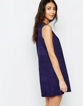 photo Anstey Suede Mini Shift Dress by Muubaa, color Azure Blue - Image 2