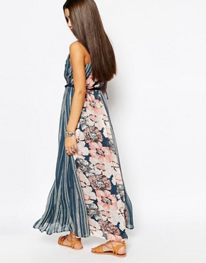 photo Chiffon Maxi Dress with Rope Belt by Abercrombie & Fitch, color Floral Print - Image 2