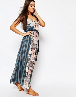 photo Chiffon Maxi Dress with Rope Belt by Abercrombie & Fitch, color Floral Print - Image 1