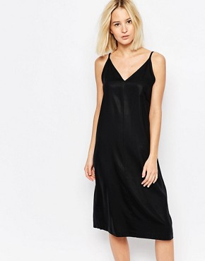 photo Dress with Back Detail by Weekday, color Black Solid - Image 1