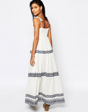 photo Blayke Maxi Dress with Embroidery by Tularosa, color White - Image 2
