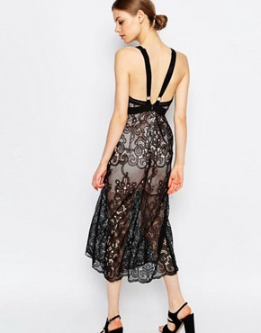 photo Wanderlust Lace Sleeveless Maxi Dress by Alice McCall, color Black - Image 2