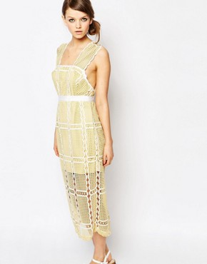photo Sleeveless Lace Midi Dress by Alice McCall, color Yellow - Image 1