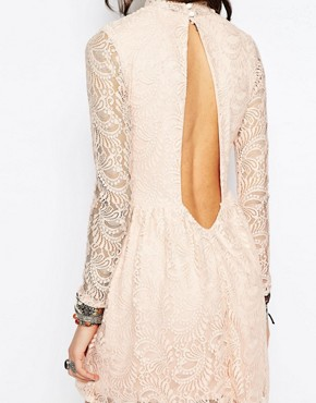 photo High Neck Dress with Open Back Detail by Rokoko, color Nudey Pink - Image 2