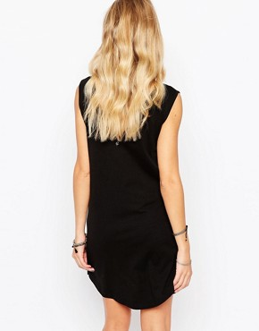 photo Laser Cut Dress with Side Vents by Rock & Religion, color Black - Image 2