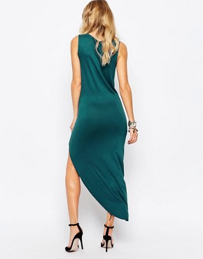 photo Jersey Wrap Dress by Rock & Religion, color Teal - Image 2