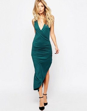 photo Jersey Wrap Dress by Rock & Religion, color Teal - Image 1