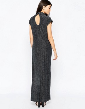 photo Sleeveless High Neck Shift Dress by Ichi, color Silver - Image 2