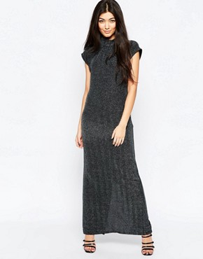 photo Sleeveless High Neck Shift Dress by Ichi, color Silver - Image 1