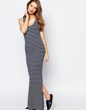 photo D-Bull Stripe Maxi Dress by Supertrash, color Navy/White Stripe - Image 1