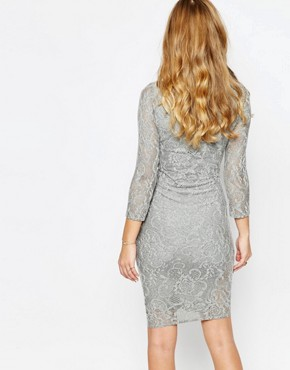 photo Dhinker Dress in Lace by Supertrash, color Grey Lace - Image 2