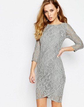 photo Dhinker Dress in Lace by Supertrash, color Grey Lace - Image 1