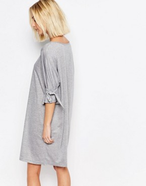 photo Shift Dress with Tie Sleeve by House of Sunny, color Grey - Image 2