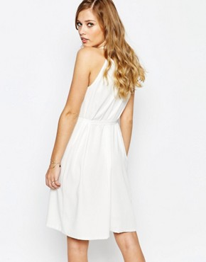 photo Dright Halter Dress in White by Supertrash, color Off White - Image 2