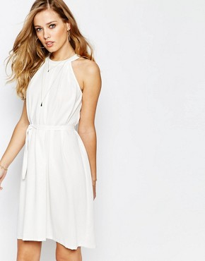 photo Dright Halter Dress in White by Supertrash, color Off White - Image 1