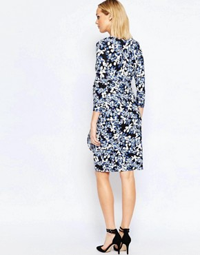 photo Floral Print Wrap Dress by Isabella Oliver, color Multi - Image 2