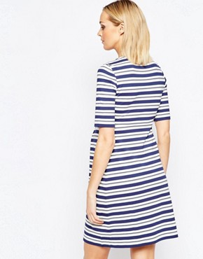 photo Striped Dress with Zip Detail by Isabella Oliver, color Multi - Image 2