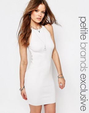 photo Knitted Halter Dress with Zip Detail by Noisy May Petite, color White - Image 1