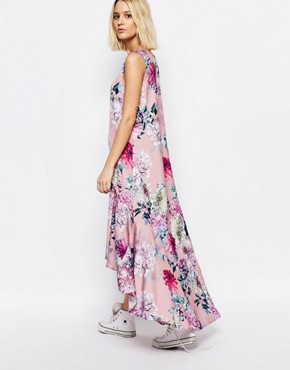 photo Botanical Floral Hi Lo Carrie Dress by Every Cloud, color Multi - Image 2