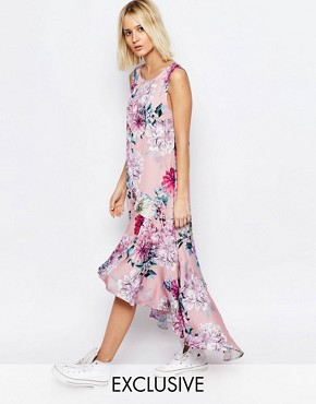photo Botanical Floral Hi Lo Carrie Dress by Every Cloud, color Multi - Image 1