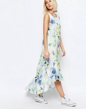 photo Machina Floral Hi Lo Carrie Dress by Every Cloud, color Multi - Image 2