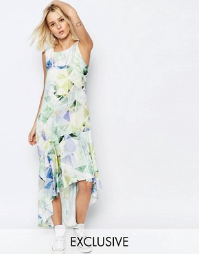 photo Machina Floral Hi Lo Carrie Dress by Every Cloud, color Multi - Image 1