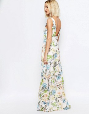 photo Broken Floral Yang Maxi Dress by Every Cloud, color Multi - Image 2