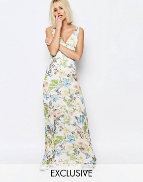 photo Broken Floral Yang Maxi Dress by Every Cloud, color Multi - Image 1