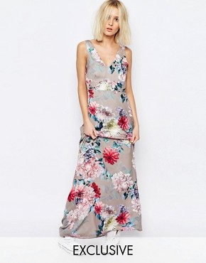 photo Botanical Floral Yang Maxi Dress by Every Cloud, color Multi - Image 1