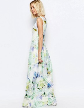 photo Machina Floral Maxi Dress by Every Cloud, color Multi - Image 2