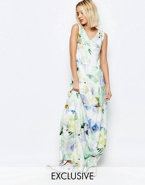 photo Machina Floral Maxi Dress by Every Cloud, color Multi - Image 1