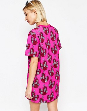 photo Cactus Print T-Shirt Dress by House of Holland, color Pink - Image 2