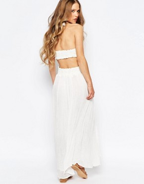 photo Lexington Maxi Dress with Cut Out Back by Jen's Pirate Booty, color White - Image 2