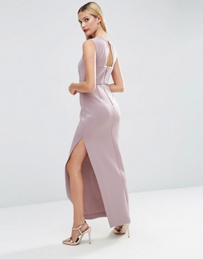 photo Lace Placed Sweetheart Maxi Dress by ASOS RED CARPET, color Lilac - Image 2