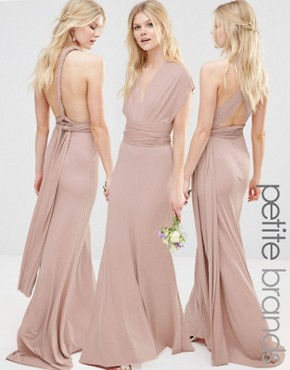 photo Multiway Maxi Dress by TFNC Petite WEDDING, color Mauve - Image 1