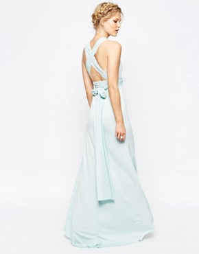 photo Multiway Maxi Dress by TFNC Petite WEDDING, color Mint - Image 2