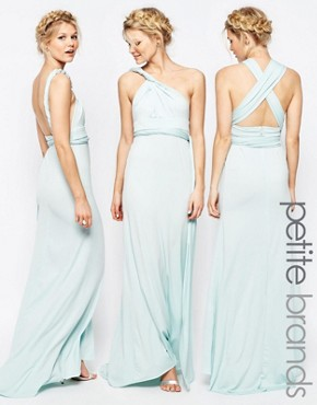 photo Multiway Maxi Dress by TFNC Petite WEDDING, color Mint - Image 1